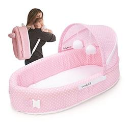 Lulyboo 4-in-1 Travel Bed/ LulyBoo Baby Lounge Pink Dot - 15