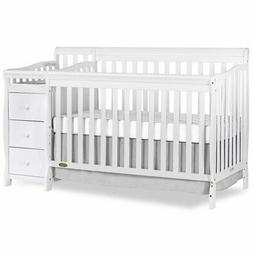 Dream On Me 5 in 1 Brody Convertible Crib with Changer - Whi