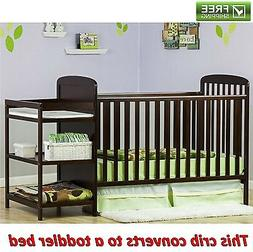 4-in-1 Changing Combo Crib, Espresso