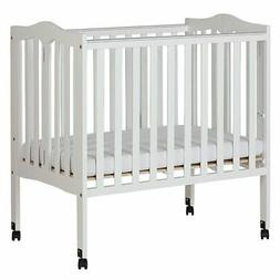 2 in 1 Lightweight Folding Portable Crib, White