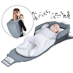 4 in 1 | Portable Bassinet | Foldable Baby Bed | with Light