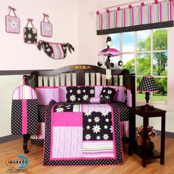 13pcs charming flower baby nursery crib bedding