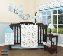 13PCS New Woodland Forest Deer Baby Nursery Crib Bedding Set