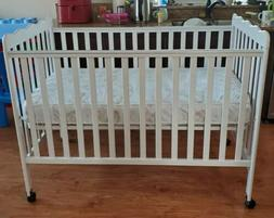 Dream On Me 3 in 1 Baby Crib with Mattress  & Bumper Pads