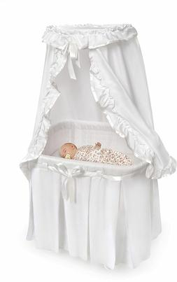 Badger Baskets 30060 Majesty Baby Bassinet with Canopy White