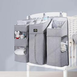 3PCS Baby Storage Organizer Waterproof Crib Bed Hanging Set
