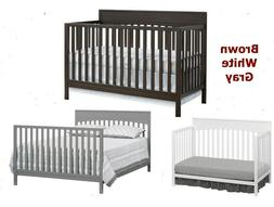 4 In 1 Convertible Crib Best Toddler Baby Bed Bassinet Full