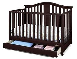 4 in 1 convertible crib with drawer Graco Espresso