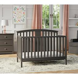 4-In-1 Convertible Crib Wood Baby Kids Toddler Daybed Full S