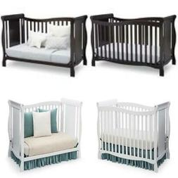 4 In 1 Convertible Cribs Toddler Guard Rail Set Wooden Bed 3