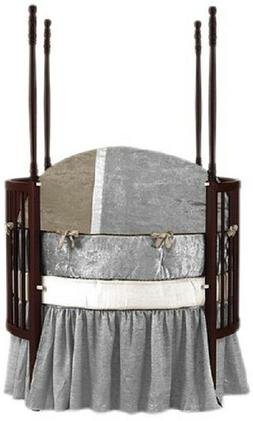 4 Piece Baby Doll Round Crib Bedding Set Olive