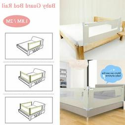 "59""-79"" Foldable Toddler Bed Rail Baby Crib Side Safety Guar"