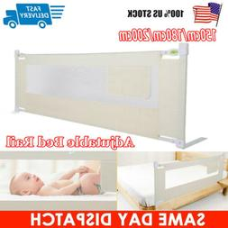 "71""/79"" Foldable Toddler Bed Rail Baby Crib Side Safety Guar"