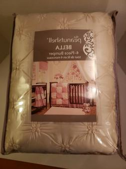 Bella Baby Girl Crib Bumper by The Peanut Shell