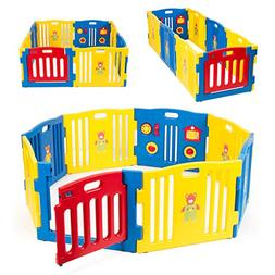Kidzone Baby Playpen Kids 8 Panel Safety Play Center Yard Ho