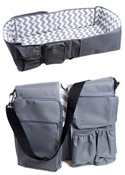 PeelCo Le Petit 3 In 1 Baby Care Bag - Travel Bed, Diaper Ba