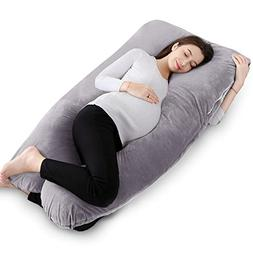 """QUEEN ROSE 55"""" Pregnancy Pillow U Shaped,Full Body Pillow wi"""