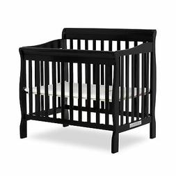 Aden Mini Convertible Crib - Finish: Black