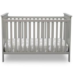 Delta Children Adley 3-in-1 Convertible Crib Gray NEW