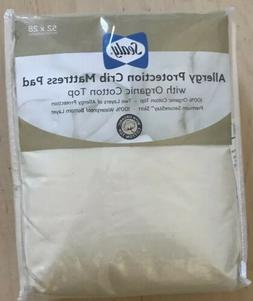 Sealy Allergy Protection Baby Crib Mattress Pad Cover Organi