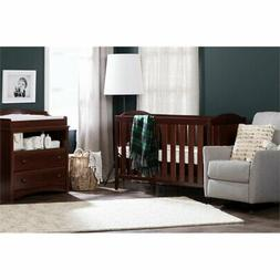 South Shore Angel Crib and Toddler's Bed, Royal Cherry