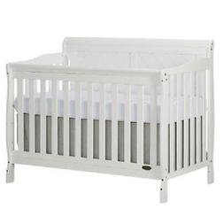 Dream On Me Ashton Full Panel Convertible 5 in 1 Crib, White