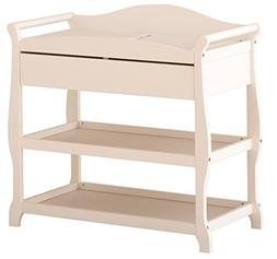 Stork Craft Aspen Changing Table with Drawer, White