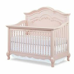 Evolur Aurora 5-in-1 Convertible Crib, Blush Pink Pearl