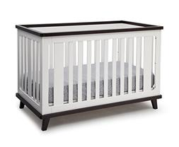 Delta Children Ava 3-in-1 Convertible Crib, White/Black Espr