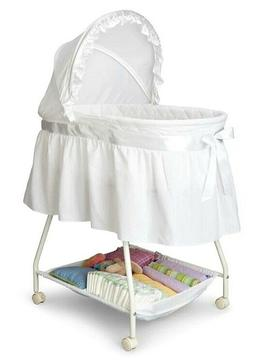Baby Bassinet - Portable Crib Cradle Bed New w Baby Sheet an