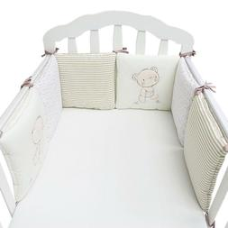 Baby Bed Bumper In The Crib Bed Protector For Newborns 6pcs