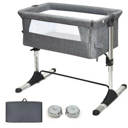 Baby Bedside Crib, Portable Baby Bassinet Bedside Sleeper