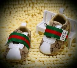 Baby Boys/ Girls Gucci Soft Bottom Crib Shoes, Perfect First