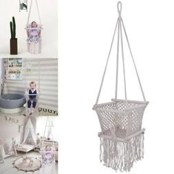Baby Cradle Cot Hammock Hanging Chair Cotton Seat Rope Outdo