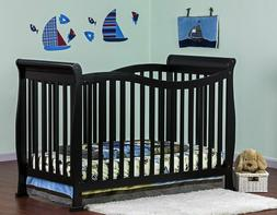 Baby Crib 7in1 Convertible Life Black Bed Grow With You Slee