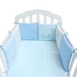 Baby Crib Bumper Breathable Comfy Cotton Infant Toddler Bed