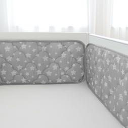 Crib Bumper for Girls Baby Gift Toddler Bedding Pad Protecto