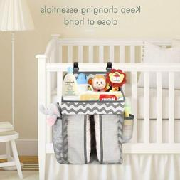 Zooawa Baby Crib Cot Bed Hanging Storage Bag Nursery Diaper