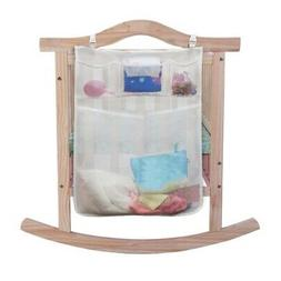 Baby Crib Cot Bed Hanging Storage Bag Pocket Diaper Nappy Cl