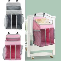 Baby Crib Hanging Bags Portable Bedside Organizer Diaper Sto