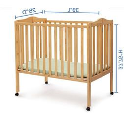 Baby Crib Mini with Mattress Children Folding Portable Easy