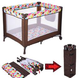 Baby Crib Portable Bed Toddler Travel Bassinet Foldable Play