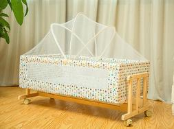 baby crib solid wood sleeping basket Independent portable tr