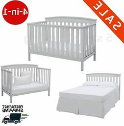 baby crib toddler bed convertible 4 in