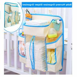 Baby Diapers Bag Hanging Diaper Wipe Crib Bedside Storage Ho