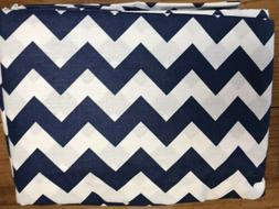 Baby Doll Bedding 6 Toddler Fitted Crib Sheets Chevron Navy