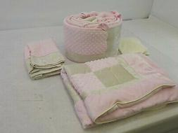 Baby Doll Bedding 8100C4 - Croco Minky Crib Set, Pink/Ivory