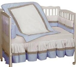 Baby Doll Bedding Classic II Crib Bedding Set, Blue NEW