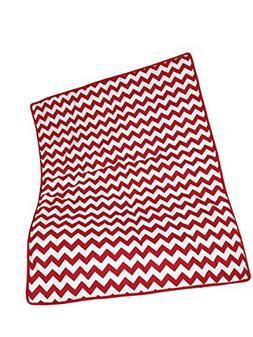 Baby Doll Bedding Chevron Crib Comforter, Red