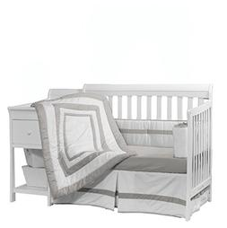 Baby Doll Bedding Modern Hotel Style Crib Bedding Set, Grey